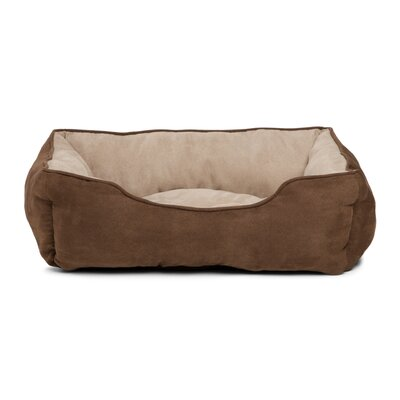 Rectangular Cuddler Suede Dog Bed