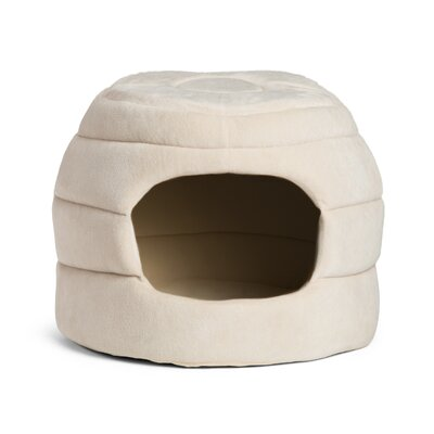 2-in-1 Honeycomb Hut-Cuddler Bella Dog Bed/ Cat Bed Color: Cream