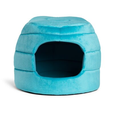 2-in-1 Honeycomb Hut-Cuddler Bella Dog Bed/ Cat Bed Color: Turquoise