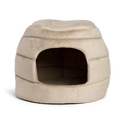2-in-1 Honeycomb Hut-Cuddler Bella Dog Bed/ Cat Bed Color: Wheat