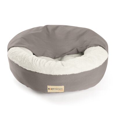Cozy Cuddle Mason Dog Bed / Cat Bed Size: Medium (24 L x 24 W), Color: Carter / Teal