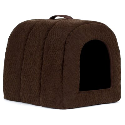 Pet Igloo Flex Cat Bed Dome Color: Dark Chocolate