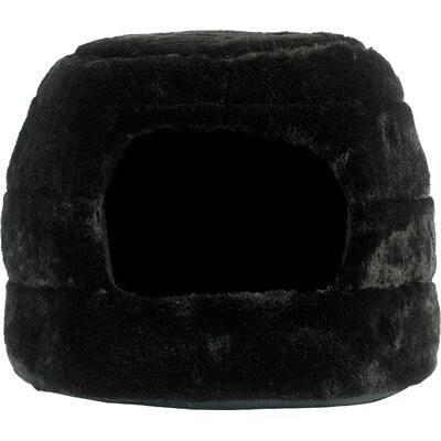 2-in-1 Honeycomb Hut-Cuddler Color: Black