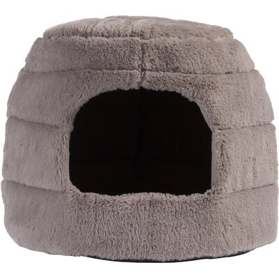Pet 2-in-1 Honeycomb Hut Cuddler in Fur Color: Grey