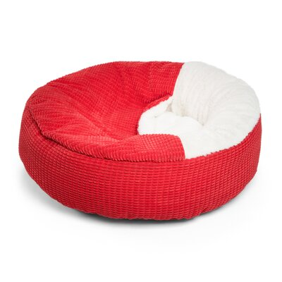 Cozy Cuddle Mason Dog Bed Size: 23 x 23, Color: Red