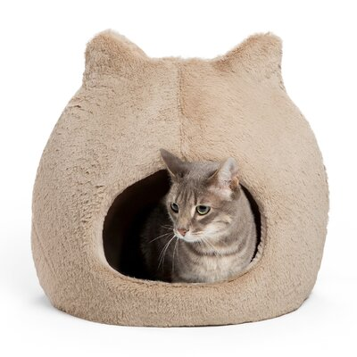 Meow Hut Fur Cat Bed Color: Wheat