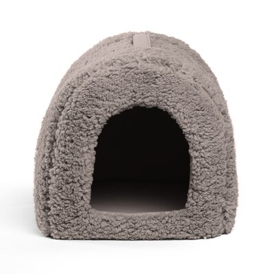 Pet Furniture Pet Igloo Hooded Color: Gray