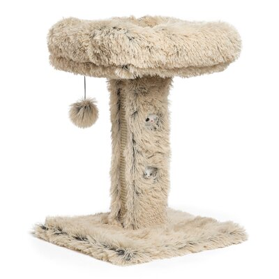 24 Modern Kitty Scratching Post Color: Taupe