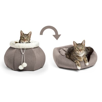 2-in-1 Kitty Nest Color: Gray