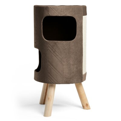 28 Modern Kitty Satellite Hiro Cat Tower/ Tree with scratching surface Color: Mink