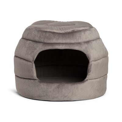 2-in-1 Honeycomb Hut-Cuddler Bella Dog Bed/ Cat Bed Color: Gray