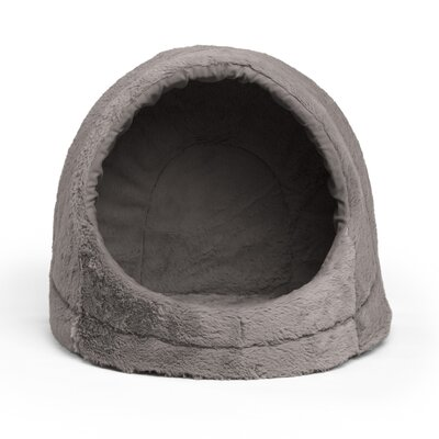Pet Cave Fur Cat Bed / Dog Bed Color: Gray