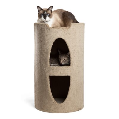 23 Modern Kitty Titan Cat Condo Color: Wheat