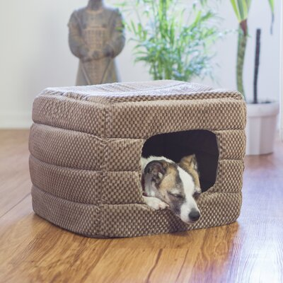 2-in-1 Pet Cube Cuddler Flair Hodded Dog Bed