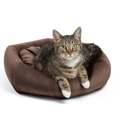 4-in-1 Kitty Pouch-Cuddler Ilan Cat Bed Color: Dark Chocolate
