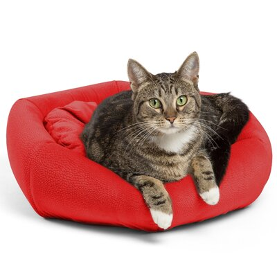 4-in-1 Kitty Pouch-Cuddler Ilan Cat Bed Color: Red