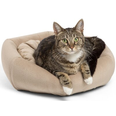 4-in-1 Kitty Pouch-Cuddler Ilan Cat Bed Color: Wheat