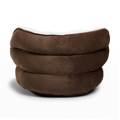 Mini Pet Throne Bolster in Ilan, Dark Chocolate