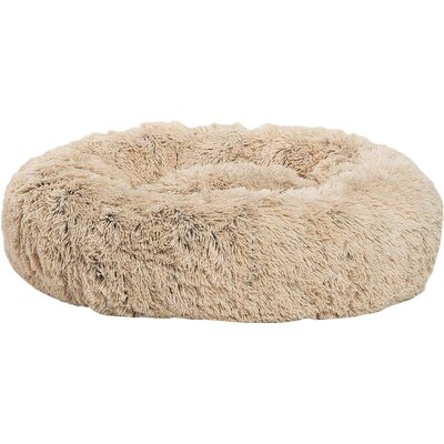 Donut Shag Pet Bed Bolster Size: Large