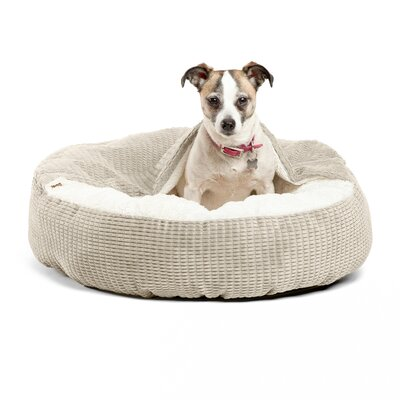Cozy Cuddle Mason Dog Bed Size: 26 x 26, Color: Oyster