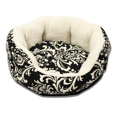Cuddler Duchess Bolster Dog Bed Size: Large (24 L x 24 W), Color: Black