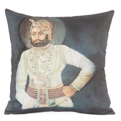 Raja Photographic Embroidered Throw Pillow