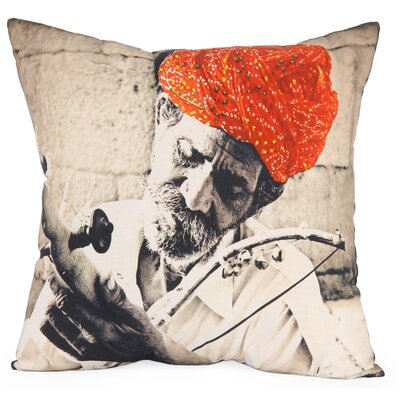 Music Photographic Embroidered Throw Pillow