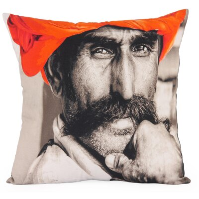 Surata Photographic Embroidered Throw Pillow