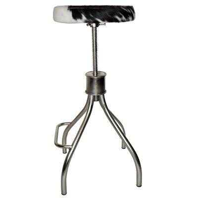 Cerus 23 Swivel Bar Stool Upholstery: Black/White
