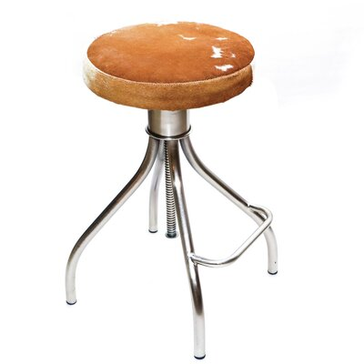 Cerus 23 Swivel Bar Stool Upholstery: Brown/White