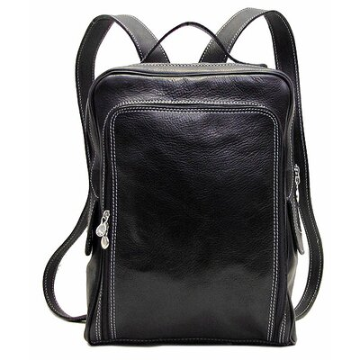 Milano Leather Backpack Color: Black image