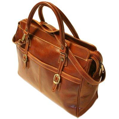 Floto imports Casiana Leather Mini Tote Handbag - Color: Vecchio Brown at Sears.com
