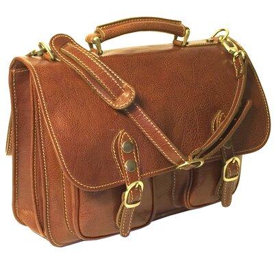 Floto imports Poste Messenger Bag - Color: Vecchio Brown
