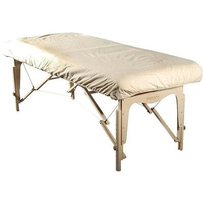 Massage Table Flannel Cover Color: White