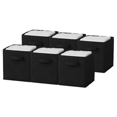 GGI INTERNATIONAL Cube Storage Bin (Set of 6) - Finish: Black