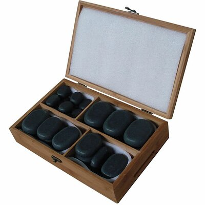 36 Piece Basalt Lava High Polish Hot Stone Massage Set