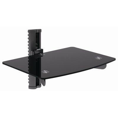 Adjustable Wall Mount Glass Shelf DVD-2BE