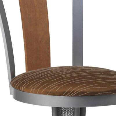 Doz 30 Swivel Bar Stool Base Finish: Stainless, Upholstery: Impluse 97, Wood Finish: Canelle