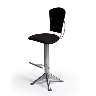 Keos 30 Swivel Bar Stool Upholstery: Naya 040, Base Finish: Textured Black