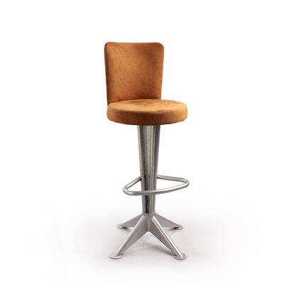 """Createch Bill 30"""" Swivel Bar Stool with Cushion - Upholstery : Impulse 1188, Base Finish: Brazo at Sears.com"""