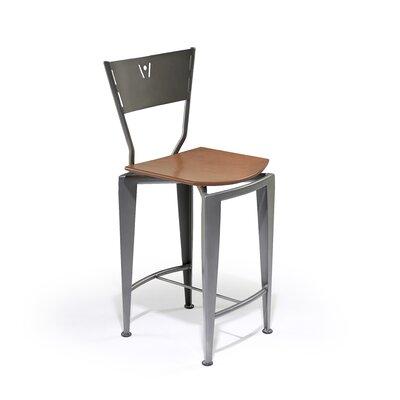 Createch ST-120 Side Chair - Upholstery: Impulse 8006, Metal Finish: Aluminium, Wood Finish: Honey Brown at Sears.com