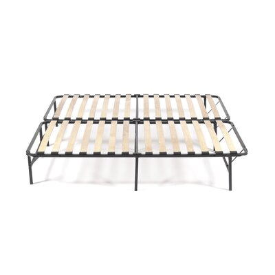 Wooden Slat Simple Base Bed Frame Size: King