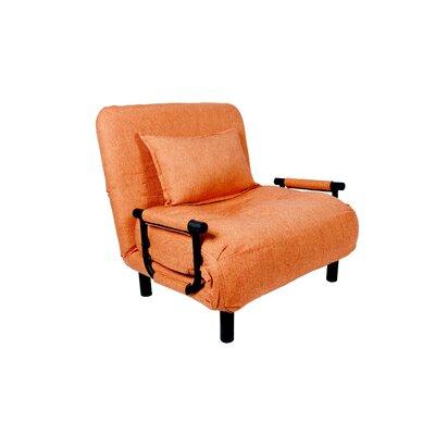 Jesse Single Sleeper Convertible Sofa Upholstery: Orange