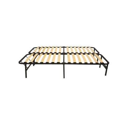 Wooden Slat Simple Base Bed Frame Size: Queen