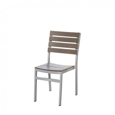 Source Contract Vienna Stacking Dining Side Chair - Finish: Grey / Teak at Sears.com