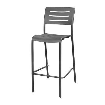 Adele Bar Stool Upholstery: Gunmetal Gray