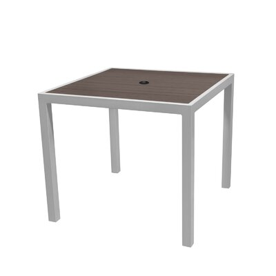 Nevada Dining Table Top Color: Espresso, Table Size: 32 L x 32 W