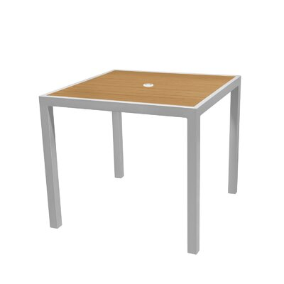 Nevada Dining Table Top Color: Teak, Table Size: 32 L x 32 W