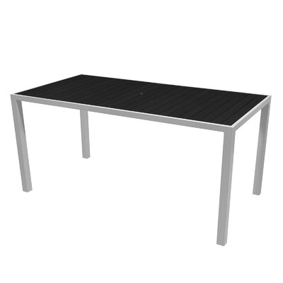 Nevada Dining Table Top Color: Black