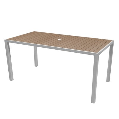 Nevada Dining Table Top Color: Gray